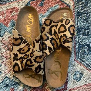 Sam Edelman Adora Slide Sandals - Leopard 6